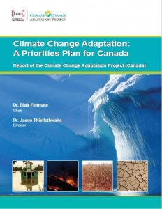 "The front page of the report ""Climate Change Adaptation: A Priorities Plan for Canada"""