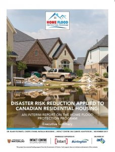 Cover Page of the interim report for the Home Flood Protection Program