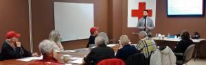 Program Specialist Daniel Presenting to Red cross