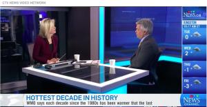 Blair Feltmate talking on global news