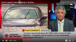Blair Feltmate talking on CBC