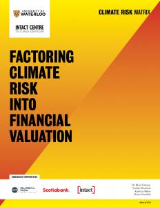 Factoring Climate Risk into Financial Valuation Report Cover