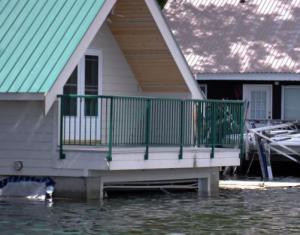 flooded house