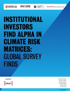 Climate Risk Matrix Survey Report Cover